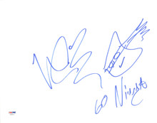 "Vanilla Ice ""Go Ninja"" Signed 11x14 Hand Drawn Ninja Turtles Sketch PSA #AA82473"