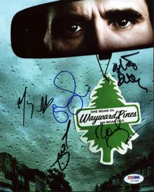 Wayward Pines Cast (5) Shyamalan, Howard, Dillon Signed 8X10 Photo PSA #Y07989