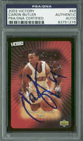 Heat Caron Butler Authentic Signed Card 2003 Victory #49 PSA/DNA Slabbed
