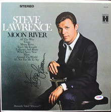 Steve Lawrence Moon River Signed Album Cover W/ Vinyl PSA/DNA #V16016