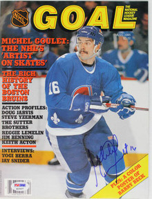 Nordiques Michel Goulet Authentic Signed 1985 Goal Magazine PSA/DNA #Q12227