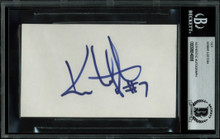 Indians Kenny Lofton Authentic Signed 3x5 Index Card Autographed BAS Slabbed