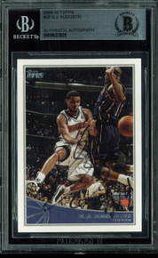 Bobcats D.J. Augustin Authentic Signed Card 2009 Topps #28 BAS Slabbed