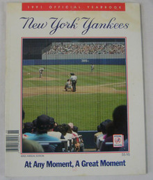 New York Yankees Authentic Official 1991 Program Yearbook