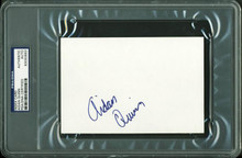 Aidan Quinn Authentic Signed 4X6 Index Card Autographed PSA/DNA Slabbed