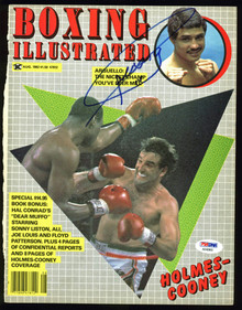 Alexis Arguello Authentic Signed Boxing Illustrated Magazine Cover PSA #AB40860