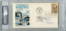 Bill Cunningham Signed 3.75X6.5 Naismith HOF First Day Cover PSA/DNA Slabbed