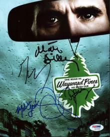 Wayward Pines Cast (5) Shyamalan, Dillon, Leo Signed 8X10 Photo PSA/DNA #Y07990