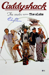 Chevy Chase Caddyshack Authentic Signed 12x18 Mini Movie Poster BAS Witnessed 2