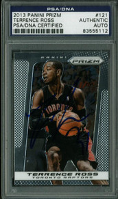 Raptors Terrence Ross Authentic Signed Card 2013 Panini Prizm #121 PSA Slabbed