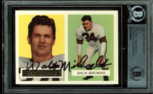 Browns Walt Michaels Signed Card 1994 Topps Archives 1957 Gold #102 BAS Slabbed