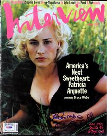 Patricia Arquette Authentic Signed Interview Magazine Cover PSA/DNA #I85641