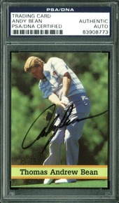 Andy Bean Authentic Signed Card Fax Pax Golf #15 Autographed PSA/DNA Slabbed