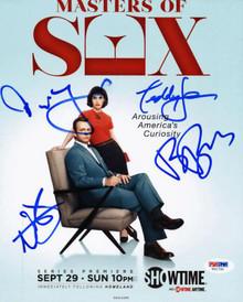 Masters Of Sex (4) Sears, Bridges, D'Agosto +1 Signed 8X10 Photo PSA/DNA #V01790