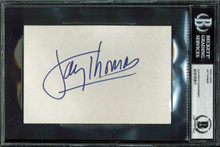 Jay Thomas Mork & Mindy Authentic Signed 4x6 Index Card Autographed BAS Slabbed