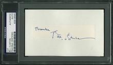 "Bill Clinton ""Thanks"" Authentic Signed .75x4 Cut Signature PSA/DNA Slabbed"