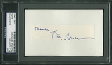 "Bill Clinton ""Thanks"" Authentic Signed .75x4 Cut Signature PSA/DNA Slabbed"