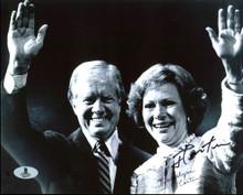 President Jimmy Carter & Rosalynn Carter Authentic Signed 8X10 Photo BAS #B04377