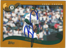 Athletics Barry Zito Authentic Signed Card 2002 Topps #455 Autographed w/ COA
