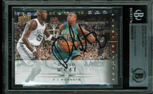 Hornets David West Authentic Signed Card 2008 UD First Edition #128 BAS Slabbed