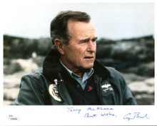"George H.W. Bush ""Terry McKenna Best Wishes"" Signed 8X10 Photo JSA #Y58856"