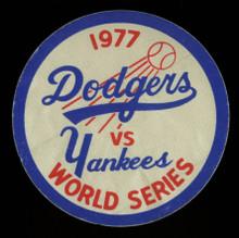 Original 1977 Dodgers Versus Yankees World Series Sticker Un-signed