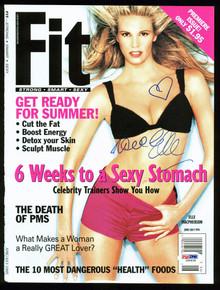 Elle Macpherson Authentic Signed Fit Magazine Cover Autographed PSA/DNA #I84830