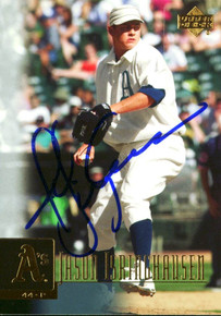 Athletics Jason Isringhausen Authentic Signed Card 2001 Upper Deck #58 w/ COA