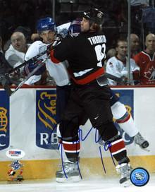 Sharks Joe Thornton Team Canada Signed Authentic 8X10 Photo PSA/DNA #X45022