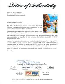 The Good Dinosaur (6) Elliott, Paquin, Signed 12x18 Movie Poster PSA #AB08281