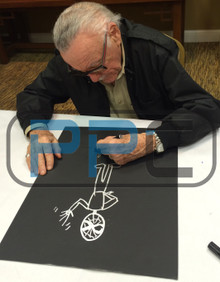 Stan Lee Authentic Signed 16x20 Canvas w/ Spider-man Sketch PSA/DNA #W00382