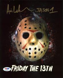 "Ari Lehman ""Jason 1"" Authentic Signed Friday The 13th 8X10 Photo PSA/BAS 6"