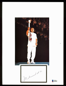 """Muhammad Ali """"97"""" Authentic Signed 8.75x11.75 Book Page Autographed BAS #A80441"""
