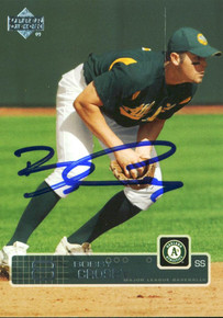 Athletics Bobby Crosby Authentic Signed Card 2003 Upper Deck #547 w/ COA