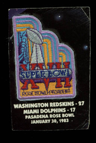 2x2.5 Inch Super Bowl XVII Patch Un-signed #XVIIPATCH