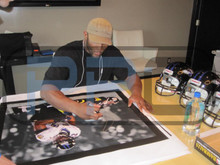 Ravens Ray Lewis Authentic Signed 24X30 Canvas Autographed PSA/DNA ITP