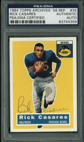 Bears Rick Casares Signed Card 1994 Topps Archives '56 Rep. #35 PSA/DNA Slabbed