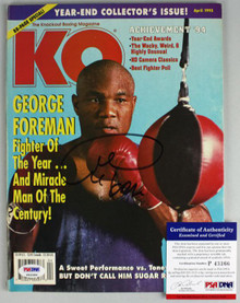 George Foreman Authentic Signed 1995 Knockout Boxing Magazine PSA/DNA #P43366