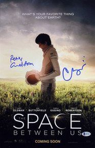 Carla Gugino & Peter Chelsom The Space Between Us Signed 11x17 Photo BAS #D07307