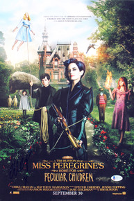 Ella Purnell Miss Peregrine's Home Authentic Signed 12x18 Photo BAS #D07308
