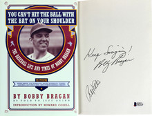 Bobby Bragan & Bobby Valentine Authentic Signed Hard Cover Book BAS #D07136