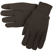 Memphis Brown Jersey Mini Dotted Ladies Gloves - 7812