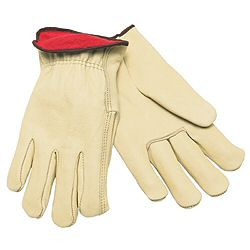 Memphis Premium Grade Cow, Red Fleece Lining, Straight Thumb Leather Glove