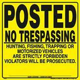 Posted No Trespassing Signs - Yellow Plastic