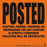 Posted Violators Will Be Prosecuted Posted Signs - Orange Aluminum
