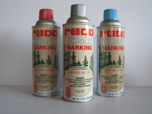 Rudd Tree & Log Marking Paint - Standard Colors - Silver is pictured, but no longer available.