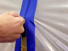Surface Shields Zip N Close Self-Adhesive Zipper