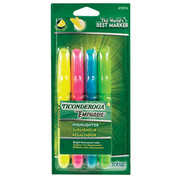Dixon Ticonderoga Fluorescent Emphasis Desk Style Highlighters - 4 Color Set