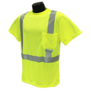Radians Class 2 Hi-Viz Safety T-Shirt - ST11-2PGS - Lime Green