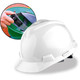 MSA Cap Style Hard Hats with Fas-Trac Ratchet Suspension - White 475358